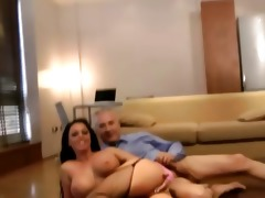 older lad fucks a hot younger stocking slut