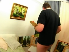 dad painter, daughter whore - anal s88