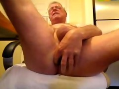 kinky oldman solo dick and ass fun