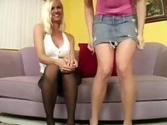 mother and daughter receive drilled