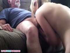 dad fucks her younger female paramour