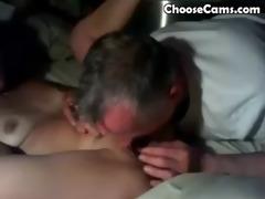 grandpapa giving grandma great oral stimulation