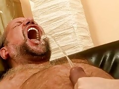 older man fucking and pissing on naughty redhead