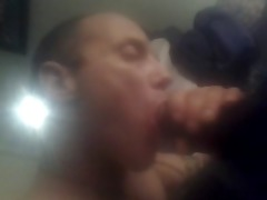 darksome dad acquires blowjob from sons white
