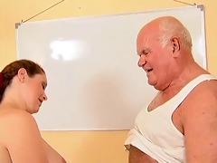 grandpa mireck and pregnant doxy