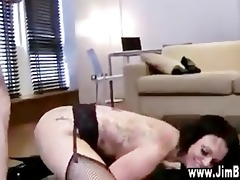 old dude bonks busty slut