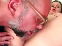 grandpa and shaggy young hotty pissing and fucking