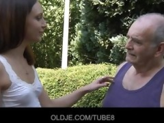 youthful russian beauty rides indeed old man