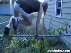 teen fucks in strangers garage