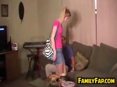 sister in law giving a handjob