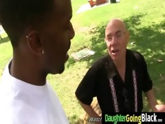young daughter receives pounded by big black