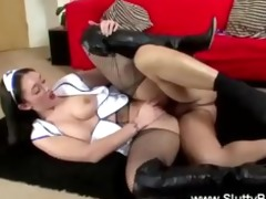 lustful nurse gets bawdy cleft drilled on the