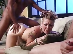 dad jerks off whilst babe receives fucked
