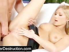 young cutie pounded hard by large cock