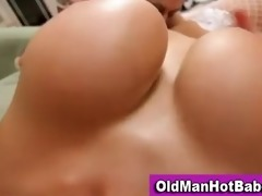 old guy fucks sexy younger honey