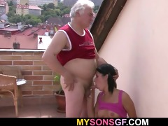 cute girl cheats with her bfs old dad