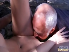 oldman have to pleasures horny juvenile landlady