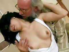 grandpa fucks his young girlfriend