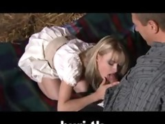 blonde sexy hotty doing hardcore sex with farmer