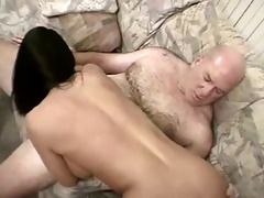 hot bald daddy bags some other youthful bimbo