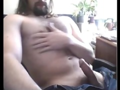 str8 furry chested daddy discharges a precious