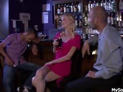 boozed blond gf cheating with oldman