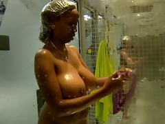 massive tits: annabel big brother africa shower