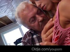 lucky granddad gustavo bonks sexy juvenile babe