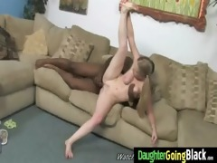 young daughter with priceless gazoo drilled by a