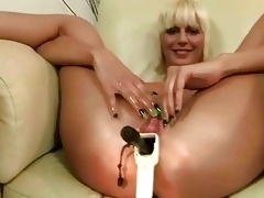 old chap toying young pussy