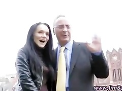 mature guy watches younger girl fingering