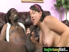 young daughter gets pounded by big darksome
