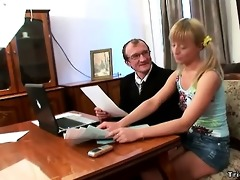 lascivious schoolgirl fucks her teacher to get an